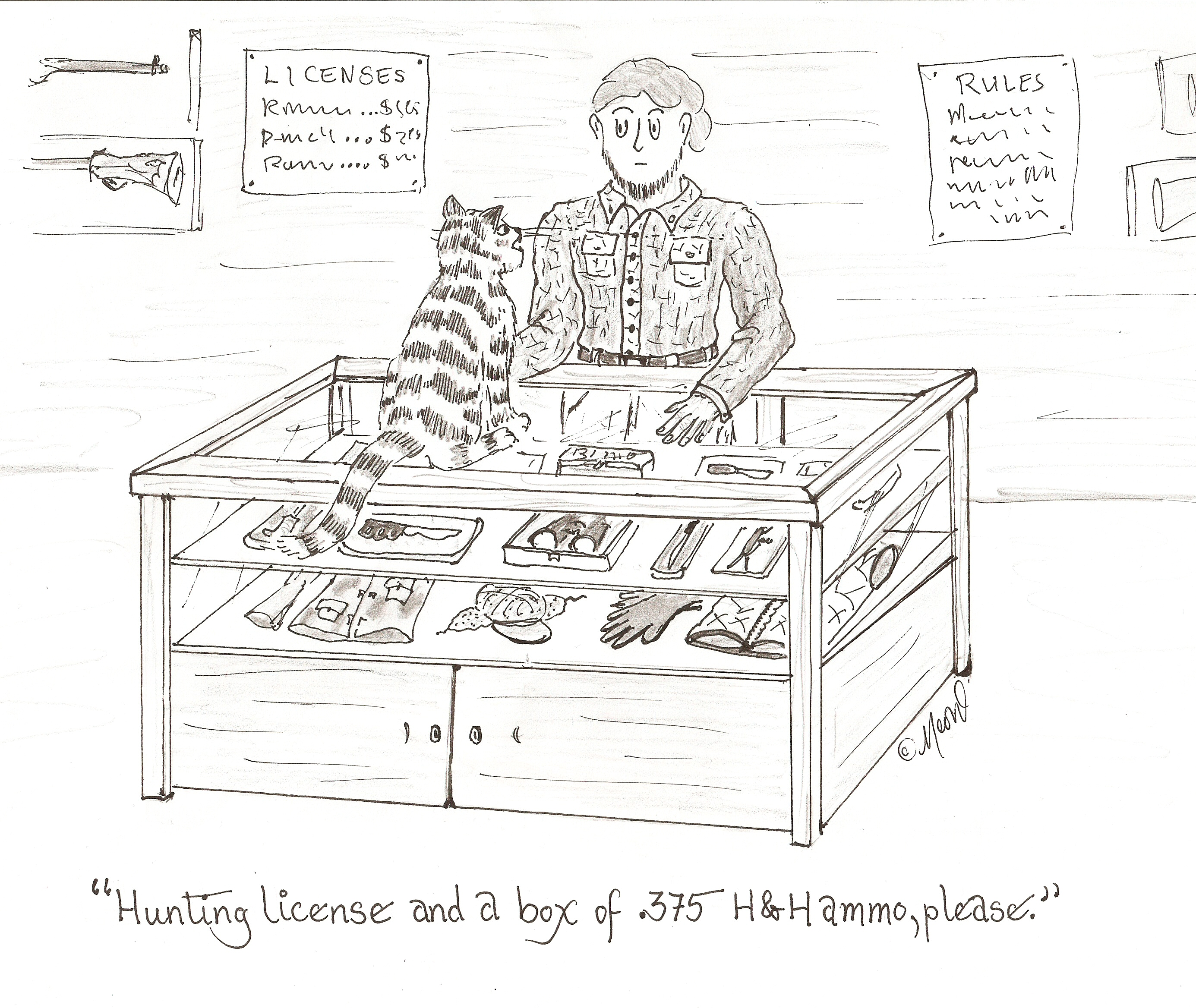 hunting licence cartoon